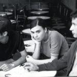 Maria del Mar Bonet amb Lluís Llach i Rafael Subirachs a la Cova del Drac, 1967. (Institut del Teatre. Pau Barceló).
