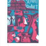 Cartell de R. Llimós que anuncia els concerts de Maria del Mar Bonet junt amb Joan Ramon Bonet i Joan Manuel Serrat per Mallorca l'hivern del 1967