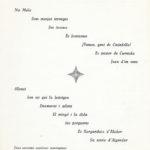 Programa de mà del primer recital en solitari de Maria del Mar Bonet, el 4 de desembre de 1965 a l'Hotel Jaume I de Palma (revers)