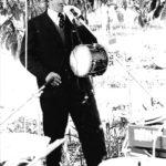 Enregistrament del disc Cançons de Festa a Algaida. Miquel Aloy de Sencelles, Fotografia de Joan Ramon Bonet, 1976