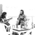 Maria del Mar Bonet i Lautaro rosas durant un assaig, 1977