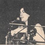 Maria del Mar Bonet al recital de la Plaça del Rei de Barcelona, estiu 1979. Fotografia de premsa