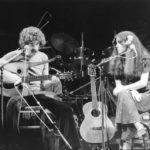 Maria del Mar Bonet i Quico Pi de la Serra durant un dels recitals Corpus al Romea, al Teatre Romea de Barcelona, juny 1979