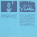 Programa de mà del recital de Maria del Mar Bonet amb el grup Al Tall al Teatro Español de Madrid a l'octubre del 1982 (interior)