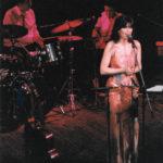 Maria del Mar Bonet durant la presentació del disc Gavines i Dragons al Palau de la Música de Barcelona, juny 1987