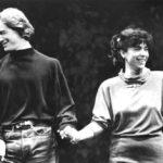 Nacho Duato i Maria del Mar Bonet al finalitzar una de les actuacions conjuntes, any 1988
