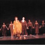 """Saludant al finalitzar la coreografia """"Arenal"""" al Teatre de Moscou al novembre del 1990"""