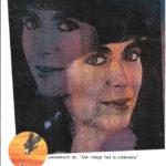 Programa de mà del concert a l'Auditòrium de Palma del 28 d'abril del 1990, on presentà el disc Bon viatge faci la cadernera. (Portada)