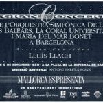 """Anunci a la premsa del Concert """"Mallorca es presenta"""" a la Plaça de la catedral de Barcelona del dia 5 de setembre del 1992"""