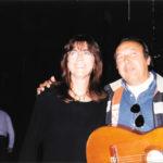 Maria del Mar Bonet i Paco Cepero durant un assaig d' El Cor del temps. Autor desconegut