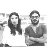 Maria del Mar Bonet i un amic al Festival 6 hores de Canet, estiu 1975