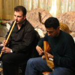 """Assajos del disc """"Amic, Amat"""" a Damasc amb el Cham Ensemble de Damasc, 2004"""