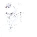 """Retrat de Bartomeu Rosselló-Pòrcel inclós al llibret del disc """"Fira encesa"""""""