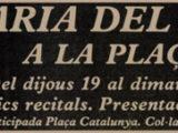 """Anunci al diari del concert """"Saba de Terrer"""" a la Plaça del Rei, l'estiu del 1979"""