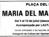 Anunci del diari del concert a la Plaça del Rei, l'estiu del 1980