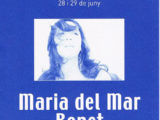 """Programa de mà del concert """"Dòmino"""" a la Plaça del Rei, l'estiu del 2000 (portada. Fotografia: Toni Catany)"""