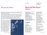 """Programa de mà del concert """"Adesiara"""" a la Plaça del Rei, l'estiu del 1991 (interior)"""