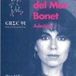"""Programa de mà del concert """"Adesiara"""" a la Plaça del Rei, l'estiu del 1991 (portada)"""