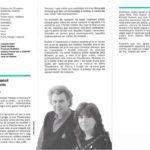 """Programa de mà del concert """"La Grècia de Theodorakis"""" a la Plaça del Rei l'estiu del 1992 (interior)"""