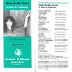 """Programa de mà del concert """"La Grècia de Theodorakis"""" a la Plaça del Rei l'estiu del 1992 (portada i revers)"""