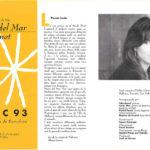 """Programa de mà del concert """"Viatgera de nits"""" a la Plaça de Rei, estiu del 1993"""