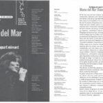 """Programa de mà del concert """"Sis llunes de quart minvant"""" a la Plaça del Rei, estiu del 1997"""