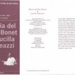 Programa de mà del concert a la Plaça del Rei  de l'estiu del 1998, amb Lucilla Galeazzi