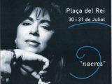 """Cartell del concert """"Nacres"""" a la Plaça del Rei de Barcelona, estiu 1999"""