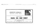 Anunci al diari La vanguardia del primer recital de Maria del Mar Bonet a la Plaça del Rei de Barcelona, el 3 de juliol del 1975