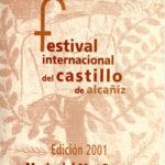 Full de mà del Premio Trovador del Festival Internacional del Castillo de Alcañiz, atorgat a Maria del Mar Bonet el 21 de juliol del 2001