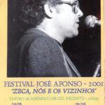 Cartell del Festival José Afonso de Coimbra on Maria del Mar Bonet cantà el dia 29 de maig del 2001