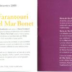 Interior del programa de mà del concert a l'Auditori de Barcelona de Maria del Mar Bonet i Maria Farantouri juntes, del 28 de desembre del 2000