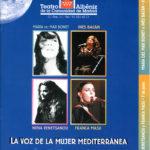 """Programa de mà del Festival """"La voz de la mujer mediterránea"""" al Teatro Albéniz de Madrid, on Maria del Mar Bonet cantà el dia 6 de juny del 2002"""
