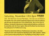 Full de mà del Old Town School of Folk Music de Chicago, on Maria del Mar Bonet hi cantà el 13 de novembre del 2004