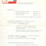 Programa de la presentació dels primers discs dels tres darrers membres dels Setze Jutges, Maria del Mar Bonet, Lluís Llach i Rafael Subirachs a la Cova del Drac de Barcelona entre els dies 4 i 8 de juliol del 1967.