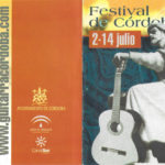 Portada del programa de mà del Festival de Córdova del 2001