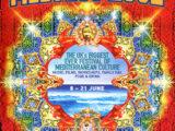 Cartell del Festival Medfest 2002 del Regne Unit on Maria del Mar Bonet hi va ser convidada