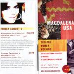 Programa de mà del concert de Maria del Mar Bonet a la ciutat de Providence, EEUU, el 5 d'agost del 2005