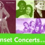 Programa de mà del concert de Maria del Mar Bonet a Sunset, EEUU, l'estiu del 2005
