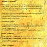 Full de mà del Festival I Frigiliana 3 Culturas de Màlaga, on Maria del Mar Bonet cantà el 24 d'agost del 2006