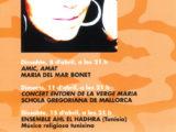 """Full de mà de la VII Setmana Europea de Música Religiosa de Cala Millor, Mallorca, on Maria del Mar Bonet feu el Concert """"Amic, Amat"""" el 8 d'abril del 2006"""