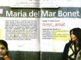 """Interior del programa de mà del Festival de Mòdena on Maria del Mar Bonet oarticipà amb el concert """"Amic, Amat"""", el 17 de març del 2007"""