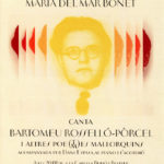 """Cartell del concert realitzat a la Residència d'Estudiants de Barcelona en motiu de l'exposició sobre Bartomeu Rosselló-Pòrcel """"Imitador del foc"""", 14 de maig del 2012"""