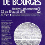 "Cartell del Festival Chansons ""Le Printtemps de Bourges"" de l'any 1978"