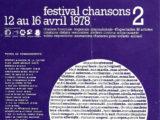 """Cartell del Festival Chansons """"Le Printtemps de Bourges"""" de l'any 1978"""