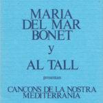 Programa de mà del recital de Maria del Mar Bonet amb el grup Al Tall al Teatro Español de Madrid a l'octubre del 1982