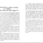 """Programa de mà, amb presentació a càrrec de Damià Huguet, del recital de Maria del Mar Bonet a Campos, Mallorca, el 16 d'agost del 1987, on presentà el disc """"Gavines i Dragons"""""""