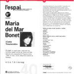 """Programa de mà de la presentació del disc """"El·las"""" a l'Espai de Barcelona entre els dies 4 i 9 de maig del 1993"""