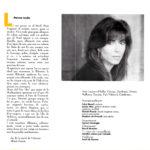 """Programa de mà del concert """"Viatgera de nits"""" de Maria del Mar Bonet a la Plaça del Rei de l'any 1993 (interior)"""