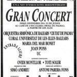 """Anunci del diari del concert """"Mallorca es presenta"""" de Palma, el 22 de juliol del 1995, amb Ovidi Montllor i Toti Soler com a convidats"""